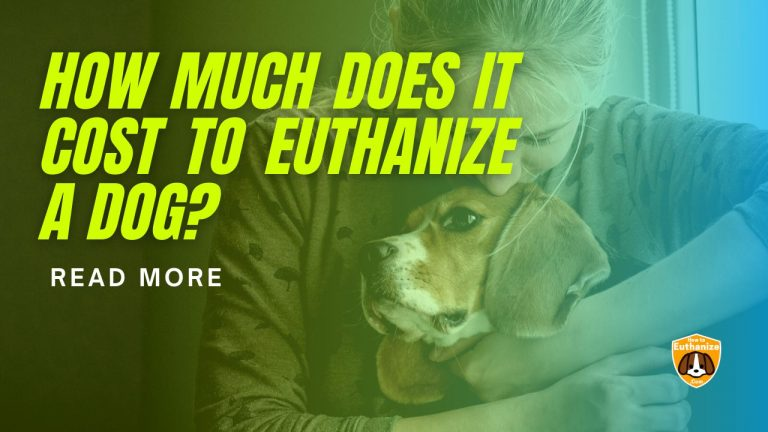 How much does it Cost to Euthanize a Dog?